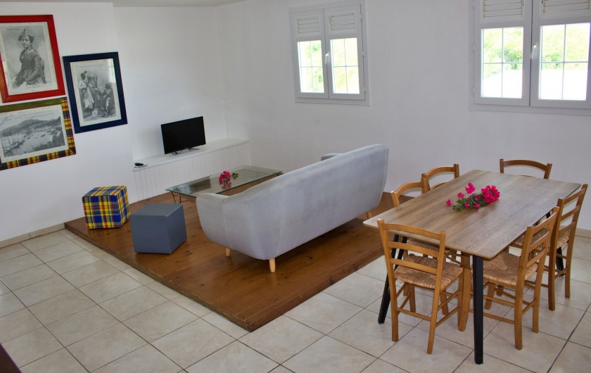 Location de vacances - Villa à Le Vauclin - Pièce principale F4 droite