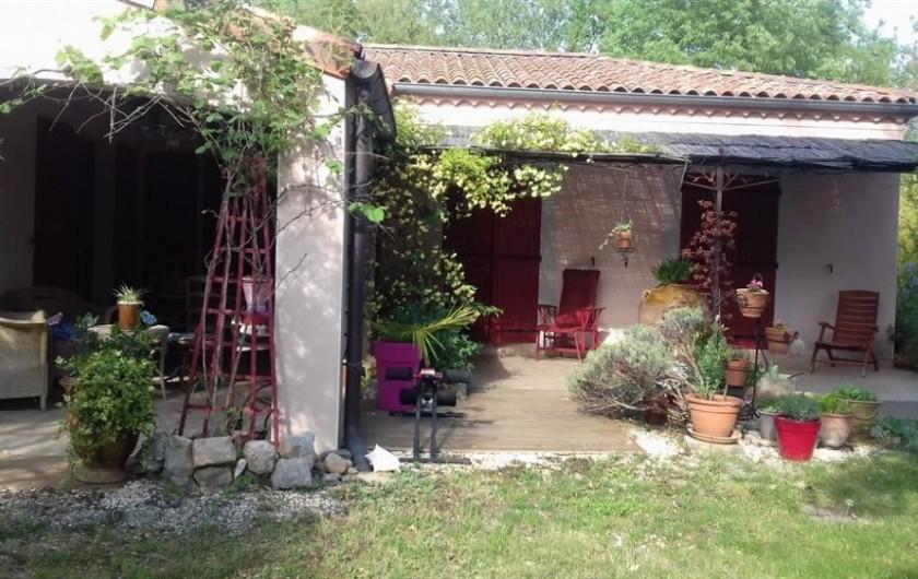 Location de vacances - Villa à Labeaume - coin détente