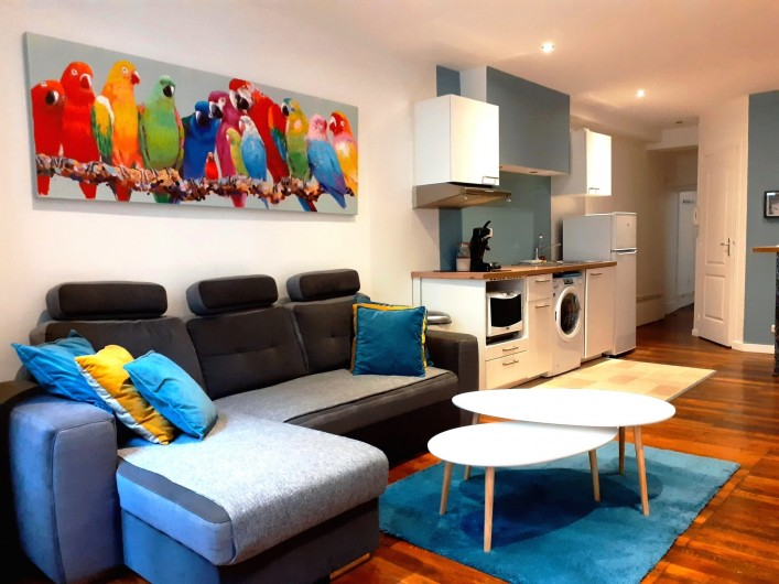 Location de vacances - Appartement à Dijon - Salon - cuisine