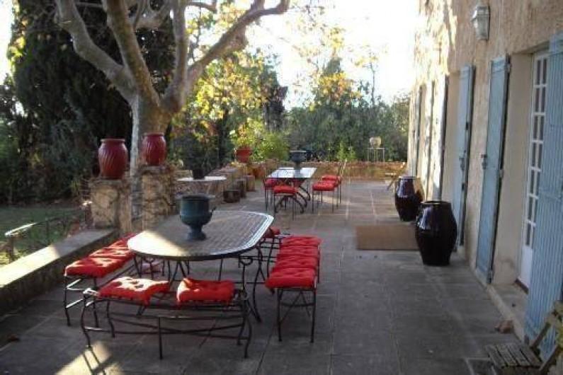 Location de vacances - Villa à Aix-en-Provence - La terrasse Sud