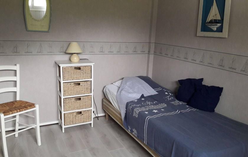 Location de vacances - Maison - Villa à Quiberville - 2ème Chambre, lit simple