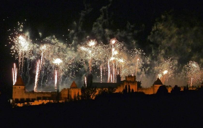 Location de vacances - Appartement à Lagrasse - Feu d'artifice à Carcassonne 14 juillet