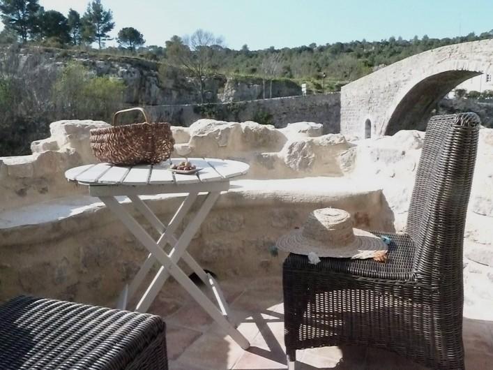 Location de vacances - Appartement à Lagrasse - Balcon/Terrace
