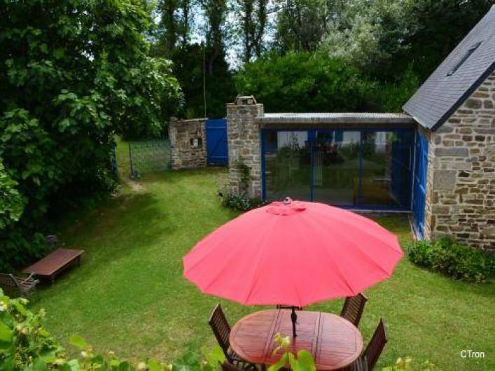 Location de vacances - Maison - Villa à Saint-Jean-Trolimon - Vue des chambres exposées sud