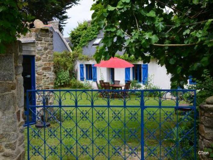 Location de vacances - Maison - Villa à Saint-Jean-Trolimon - Cour intérieure privative orientée sud