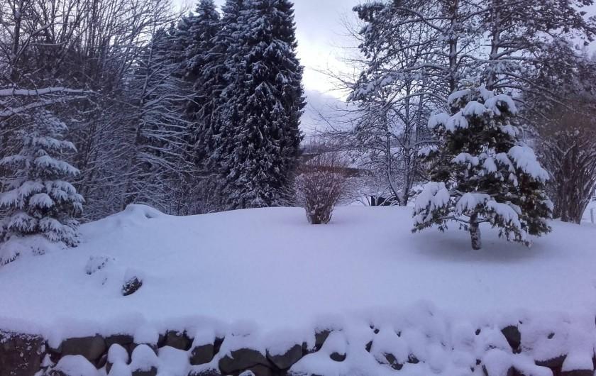 Location de vacances - Gîte à Bussang - terrain en hiver