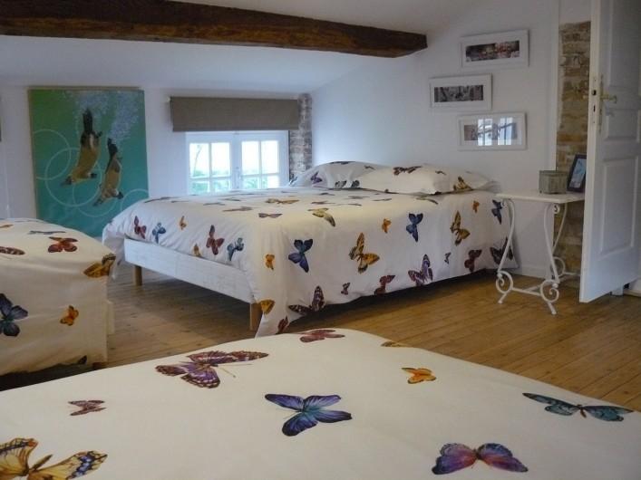 Location de vacances - Villa à Arsac - deux lits 90//200 et un grand lit 140//200