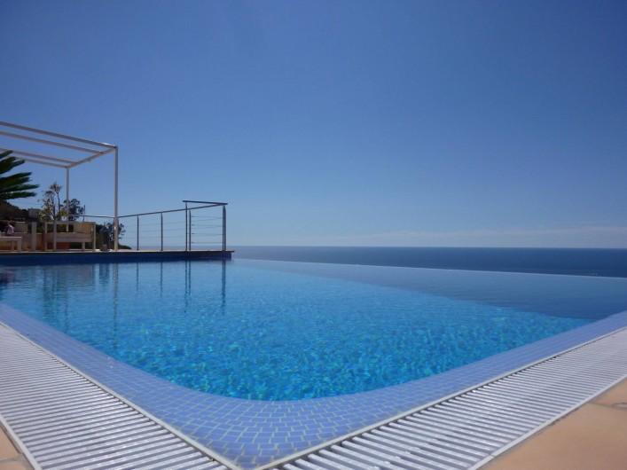 Location de vacances - Villa à Altea - Piscine à débordement et vue sur la mer