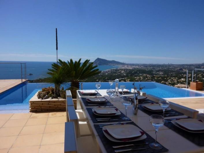 Location de vacances - Villa à Altea - terrasse couverte