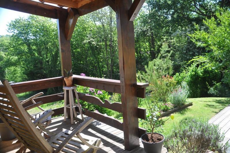 """Location de vacances - Villa à Saint-Martin-de-Seignanx - entrée côté sud avec """"balcon"""" couvert"""