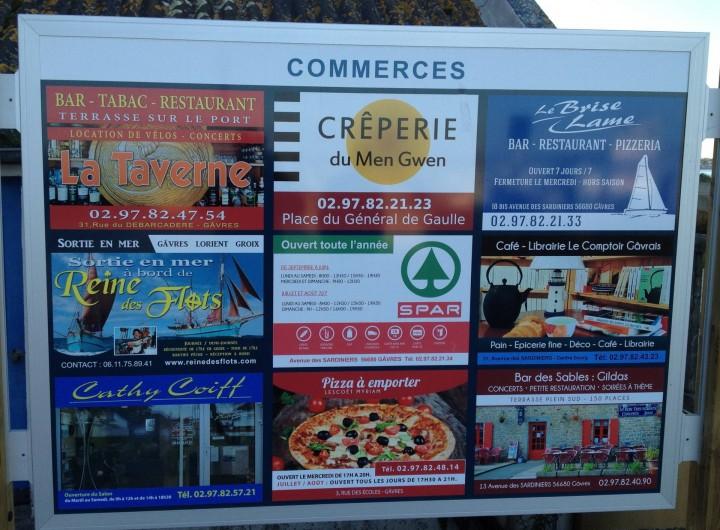 Location de vacances - Villa à Gâvres - les commerces de proximité