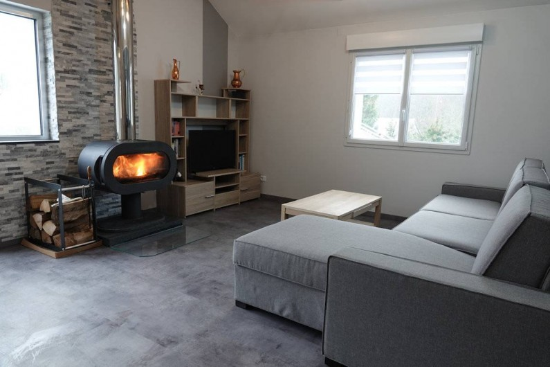 Location de vacances - Gîte à Ranspach - Salon, cheminée