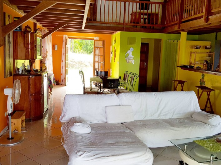 Location de vacances - Villa à Deshaies - Salon