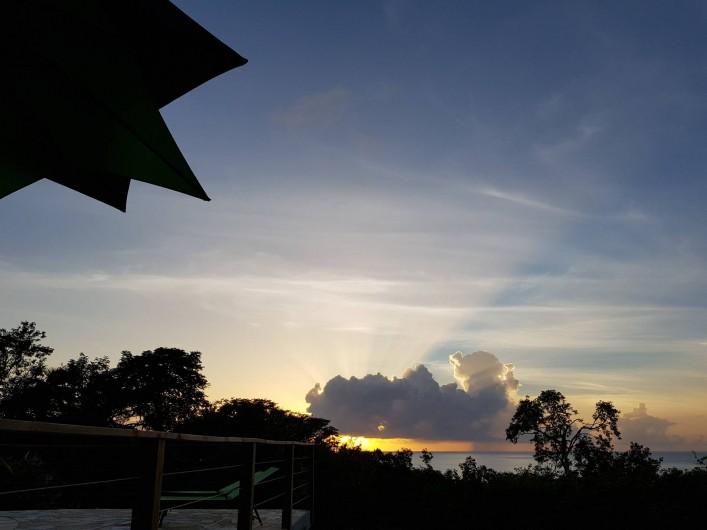 Location de vacances - Villa à Deshaies - Magnifique coucher de soleil