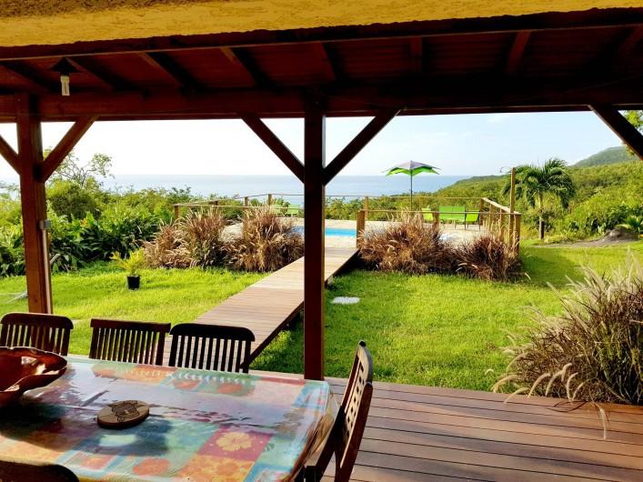 Location de vacances - Villa à Deshaies - Vue de la Terrasse