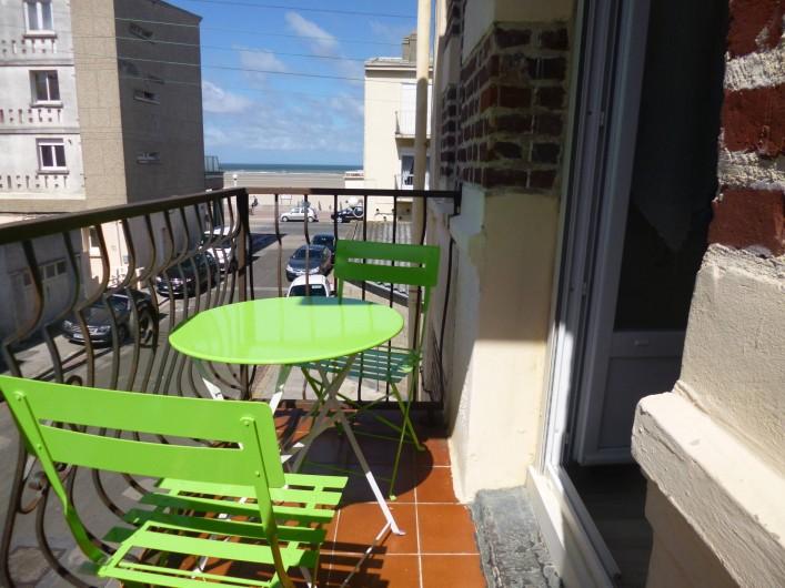 Location de vacances - Studio à Berck - salon de balcon