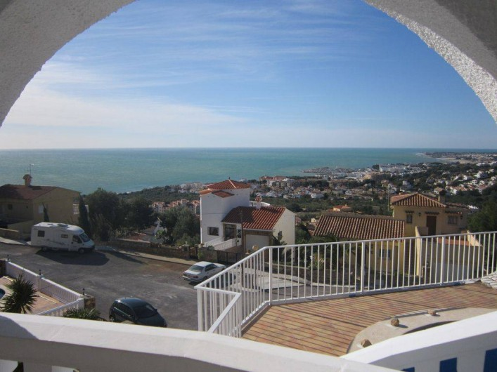 Location de vacances - Villa à Alcalà de Xivert - La vue depuis la terrasse