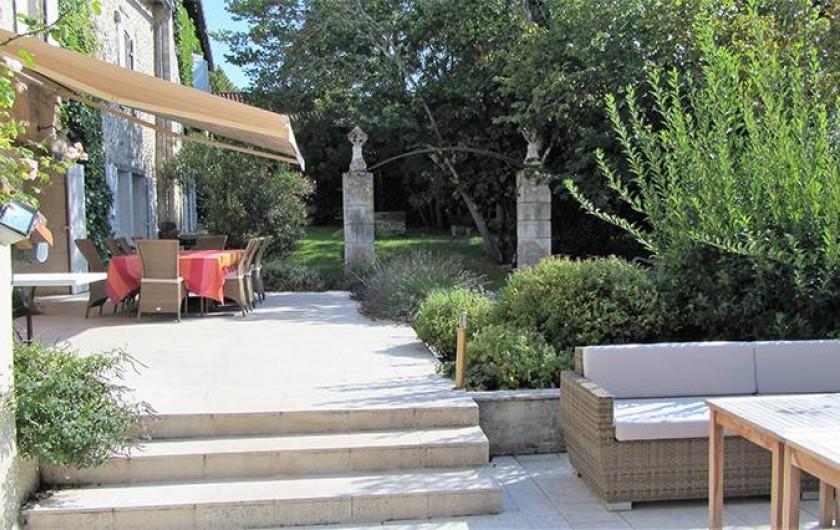 Location de vacances - Chambre d'hôtes à Douchapt - Terrasses
