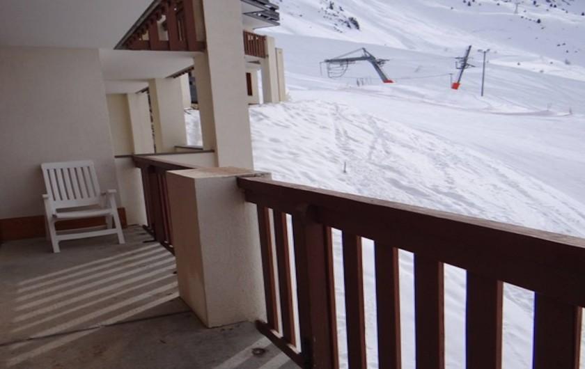 Location de vacances - Appartement à La Plagne - Terrasse