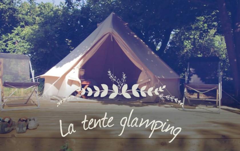 Location de vacances - Camping à Piégros-la-Clastre - Tente Glamping équipée pour 2 pers en bord de Drôme au camping Les Chamberts.