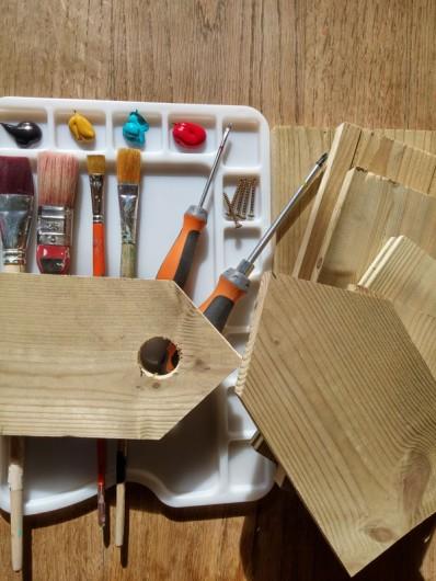 Location de vacances - Gîte à Ossages - Atelier fabrication nichoirs  gratuit, ludique repartez avec vos créations!