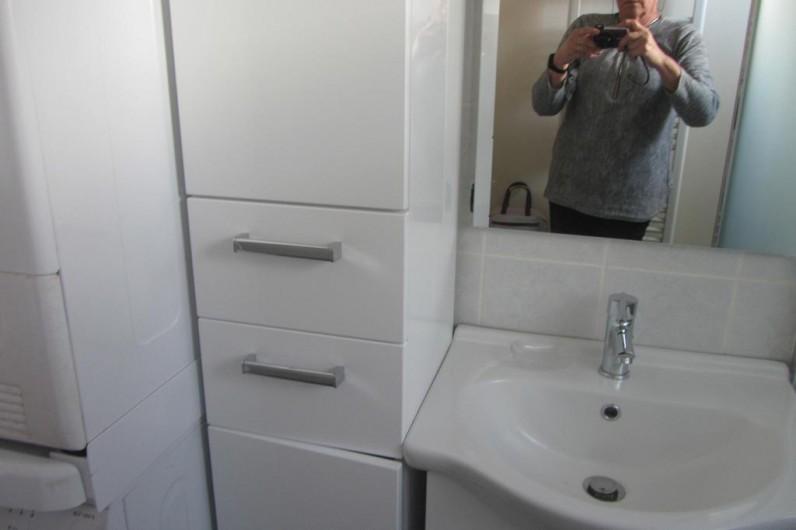 Location de vacances - Appartement à Faverges - lavabo et rangement