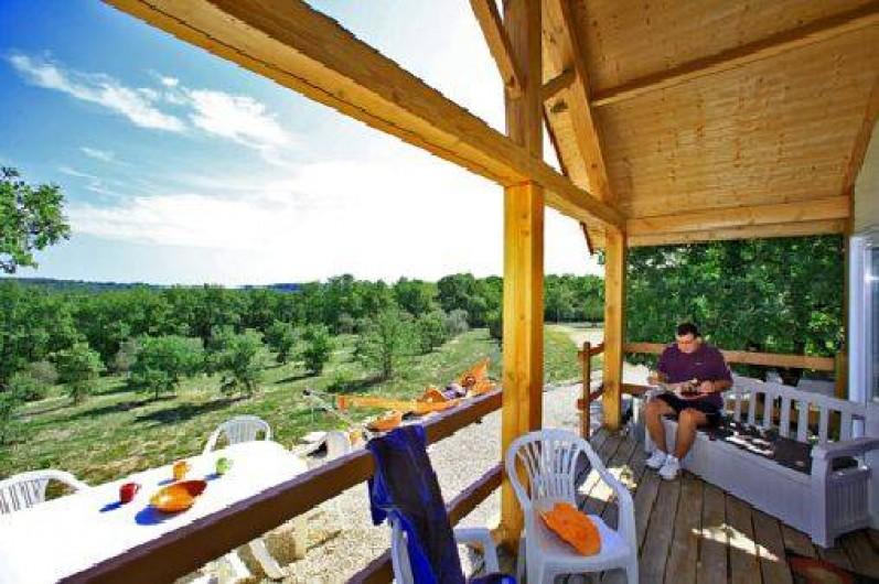 Location de vacances - Gîte à Orliaguet - Terrasse chalet