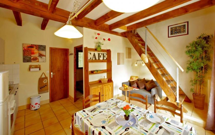Location de vacances - Gîte à Orliaguet - Espace de vie