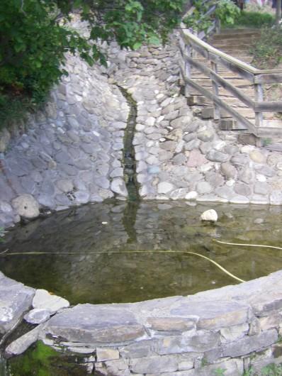 Location de vacances - Chalet à Saint-André-d'Embrun - Fontaine dans le camping