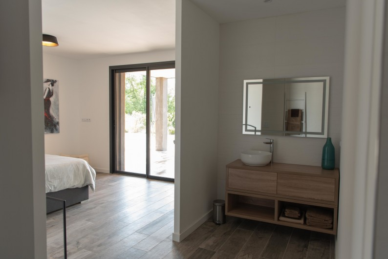 Location de vacances - Villa à Callian - Salle de bain chbre parentale 1 rdc