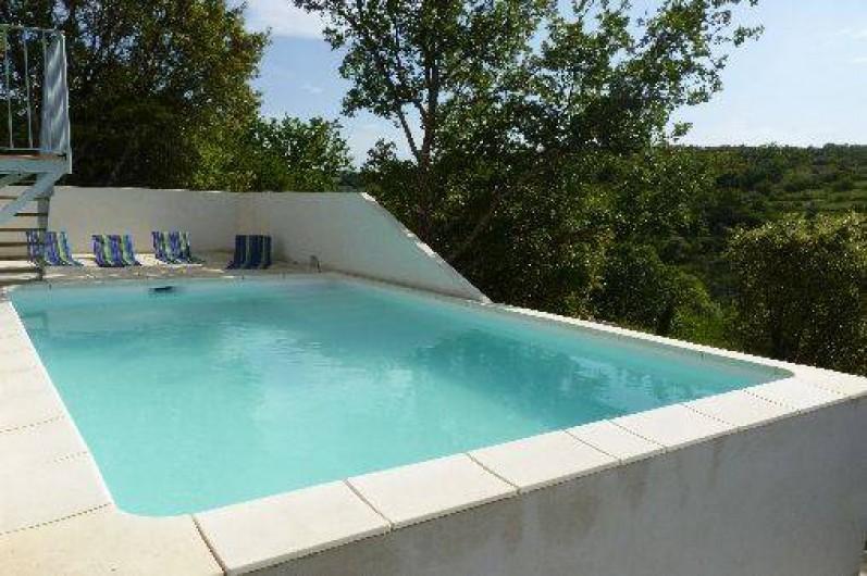 table et chambres d'hôtes avec piscine en ardèche du sud