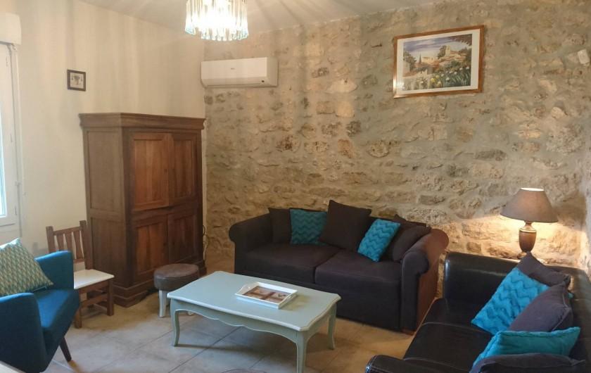 Location de vacances - Mas à Châteauneuf-du-Rhône - Salon Jas du Bas