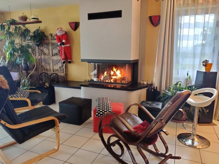 Location de vacances - Villa à Barneville-Carteret - Cheminée