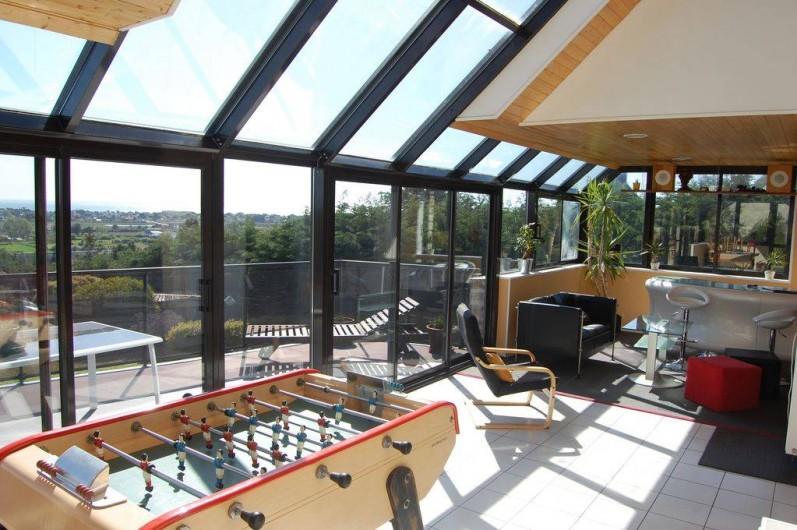Location de vacances - Villa à Barneville-Carteret - Salon + Billard + Baby-foot