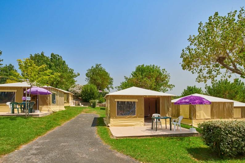 Location de vacances - Camping à Biarritz - Bungalows toilés - Biarritz Camping Pays Basque