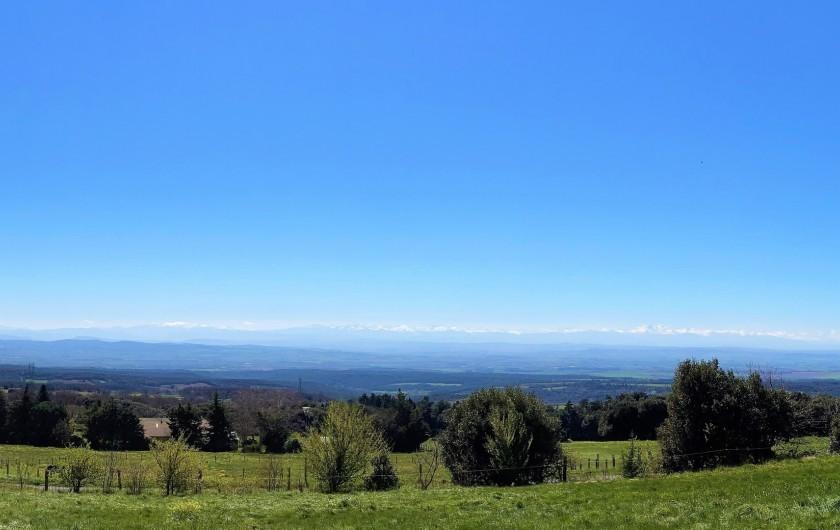 Location de vacances - Chambre d'hôtes à Saissac - Vue panoramique sur les Pyrénées