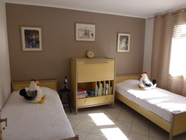 Location de vacances - Villa à La Cadière-d'Azur - CHAMBRE 3 (2 lits 90)