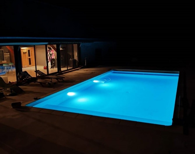 Location de vacances - Maison - Villa à Berville-en-Roumois - Piscine nuit