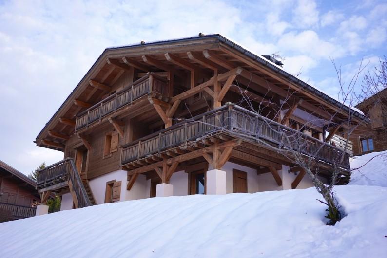 Location de vacances - Chalet à Megève - Superbe chalet individuel à Megeve, 10 min des pistes