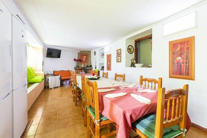 Location de vacances - Chalet à Les Cases d'Alcanar - Vue de la salle à manger