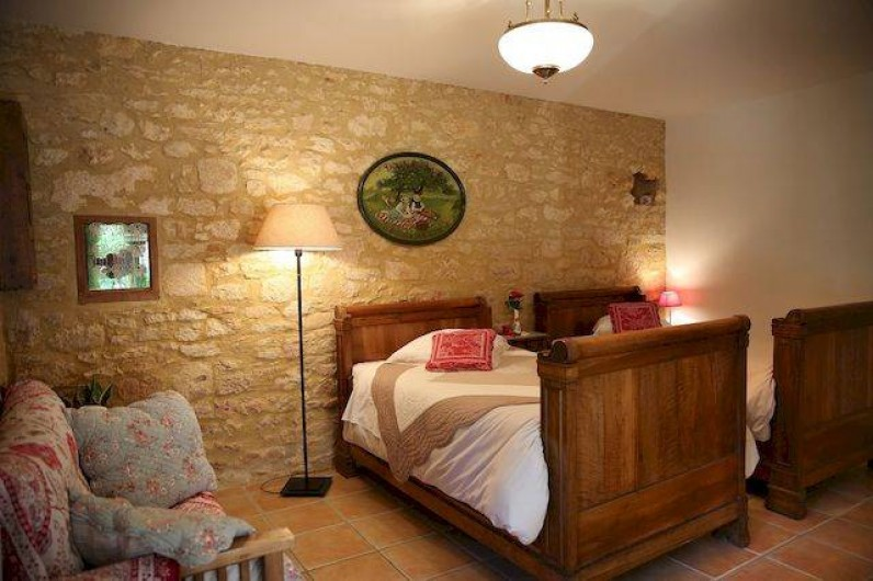 Location de vacances - Chambre d'hôtes à Valojoulx - Chambre LES COQUELICOTS