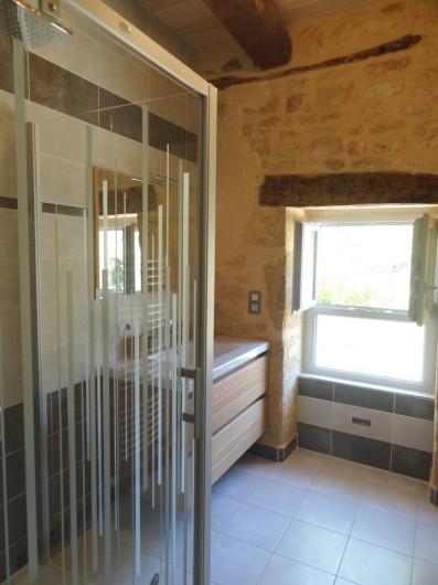 Location de vacances - Gîte à Saint-Avit-Sénieur - Salle de bain