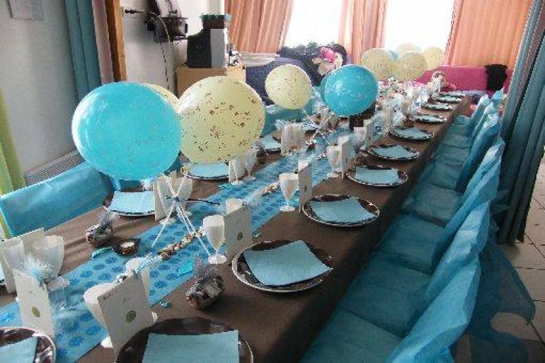 Location de vacances - Maison - Villa à Fort-Mahon-Plage - Salle décorée pour un mariage (non contractuelle)