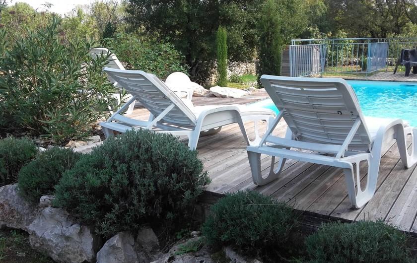 Location de vacances - Gîte à Miers - piscine