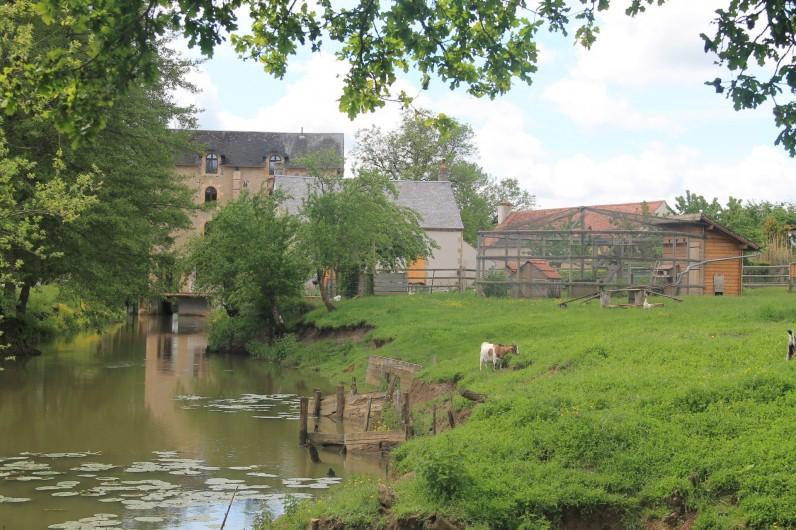 Location de vacances - Maison - Villa à Cercy-la-Tour - Prolongement de la rivière à l'arrière du gîte