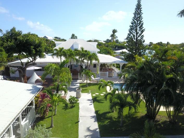 Location de vacances - Hôtel - Auberge à Saint-François - La grande villa où se trouvent les chambres d'hôtes