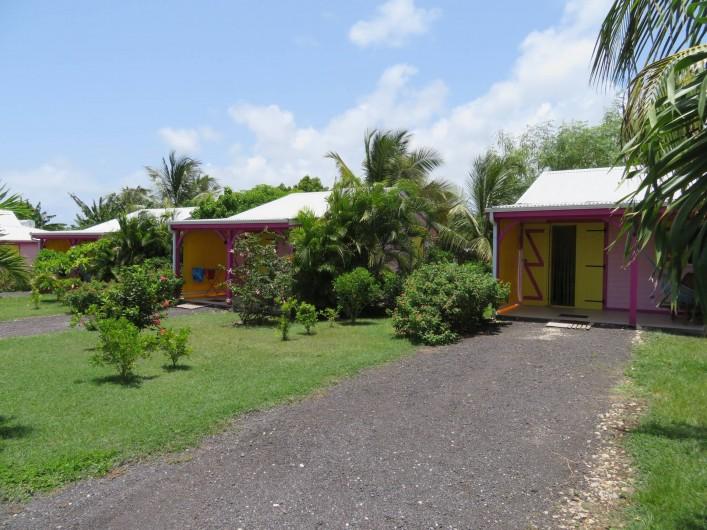 Location de vacances - Gîte à Le Moule - Vue des 3 gîtes de la Kaz à LIline