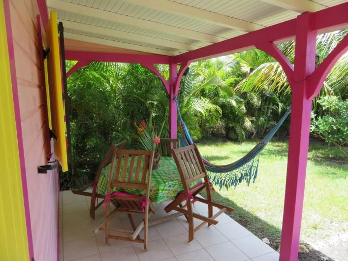 Location de vacances - Gîte à Le Moule - Vue de la terrasse pour le farniente
