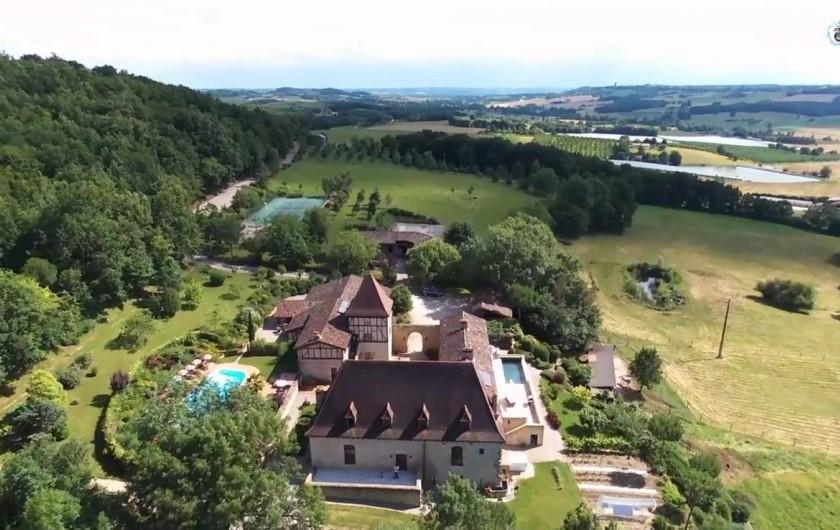 Location de vacances - Chambre d'hôtes à Saint-Pierre de Caubel - Missandre vu du ciel