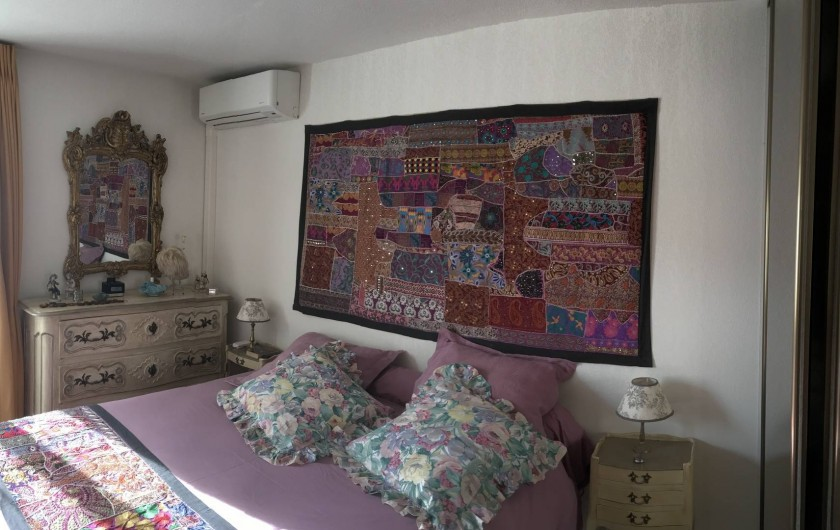 Location de vacances - Appartement à Cagnes-sur-Mer - Chambre principale